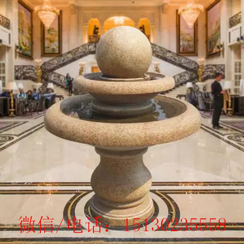 定制新宝5登录风水球招财转运喷泉室内装饰酒店大厅摆件