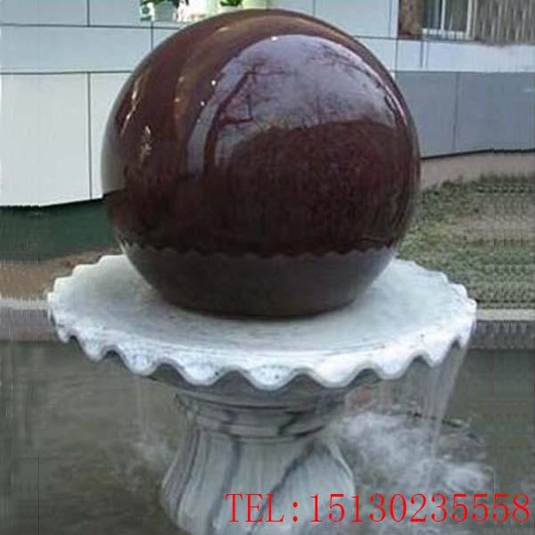 定制新宝5登录大理石风水球转运球流水景观装饰雕塑