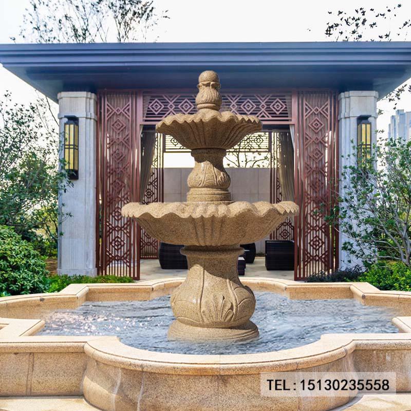 新宝5登录喷泉欧式户外别墅庭院流水景观