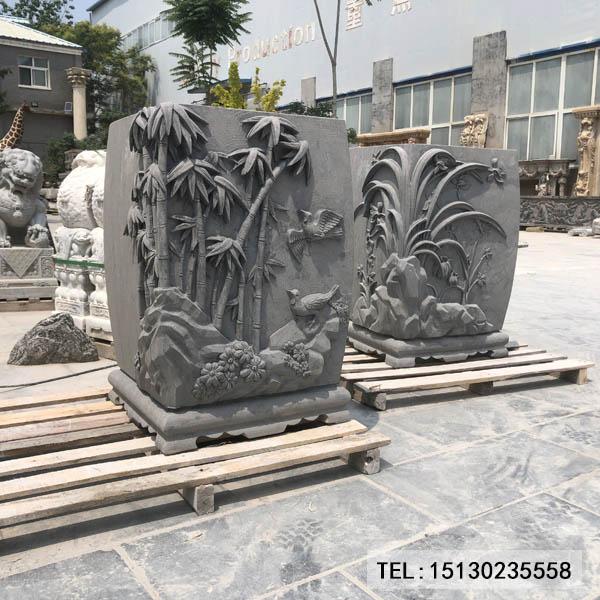 新宝5注册登录花盆雕刻摆件