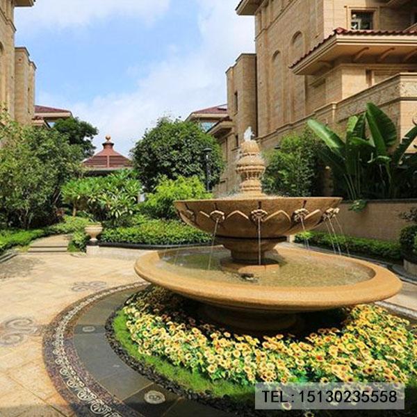 别墅小区新宝5登录喷泉景观雕塑