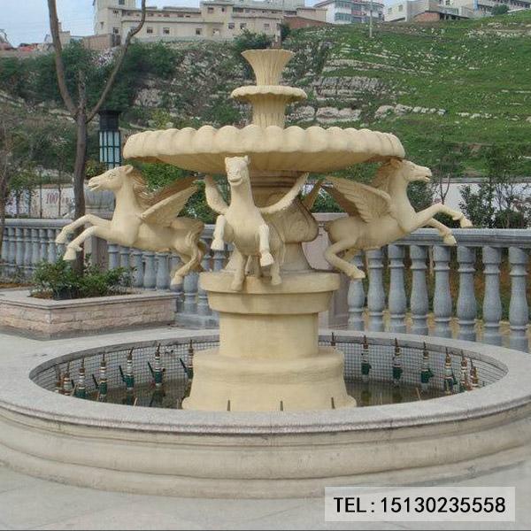 黄锈石喷泉加工厂家