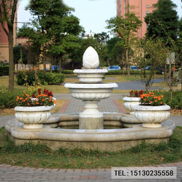 别墅小区新宝5登录喷泉装饰