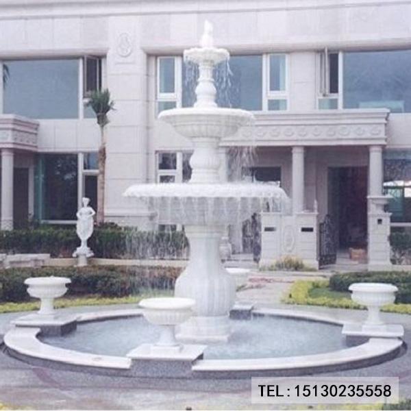 汉白玉新宝5注册登录喷泉水景装饰