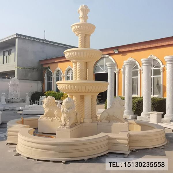 别墅欧式喷泉