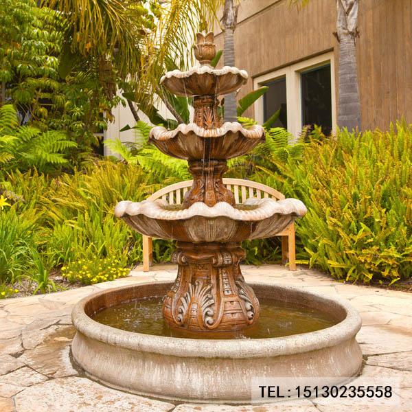 园林喷泉雕刻摆件